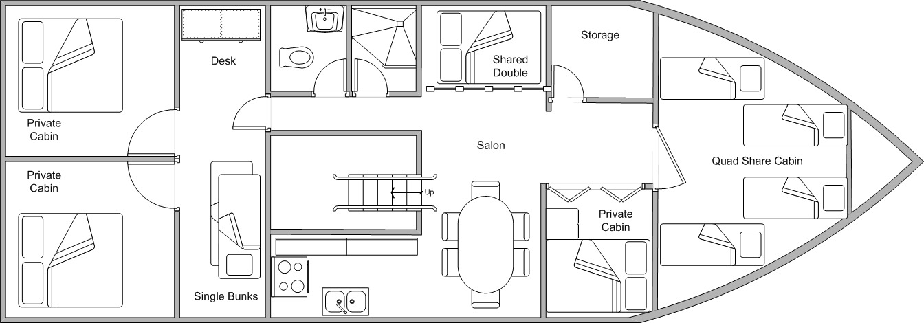 Coral Sea Dreaming Cabin Layout